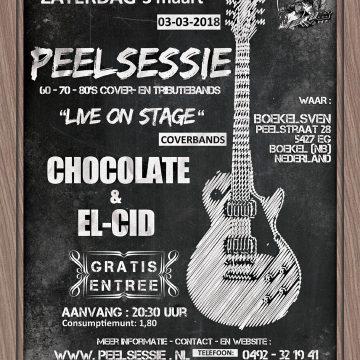 Peelsessie Boekelsven: 3 maart met El-Cid en Chocolate