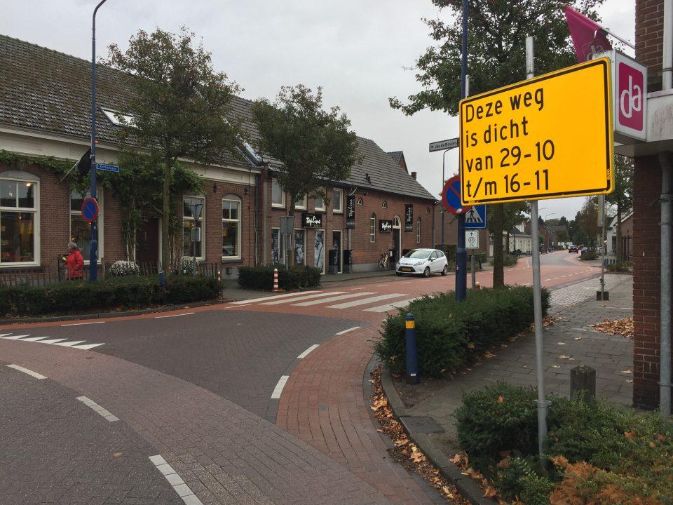 Omleidingsroute werkzaamheden Kerkstraat
