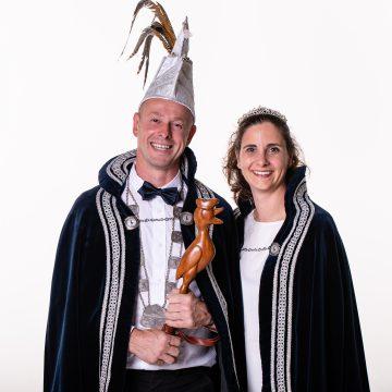 Prins Marc d'n Uurste en Prinses Susanne heersers van CV de Peeltuuters