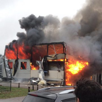Grote brand bedrijventerrein Venhorst