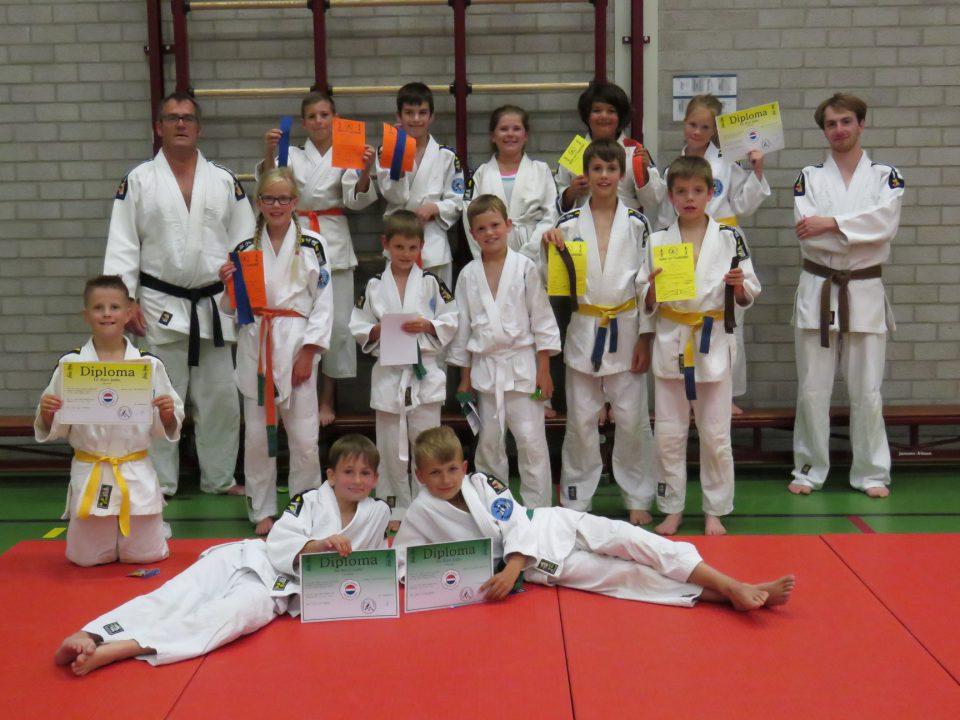 Diploma uitreiking Judoclub Boekel