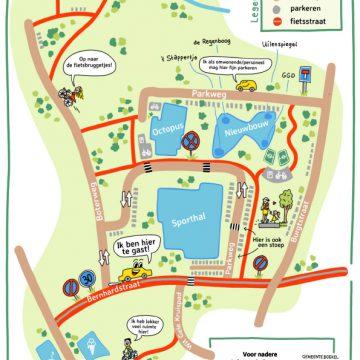 Overzicht van definitieve indeling Kindpark