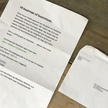 Identiteitsfraude? Ongewenste post door buurtapp Nextdoor