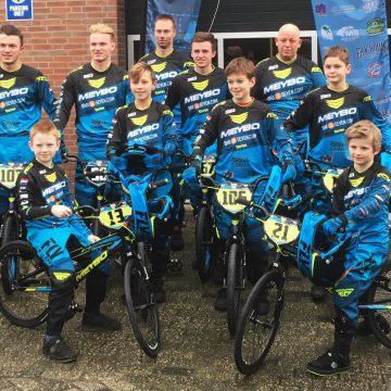 Drie kampioenen van het Talent BMX Team in BMX Zuid Competitie