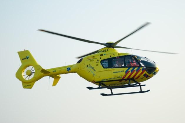 Frontale botsing, traumahelikopter ingezet