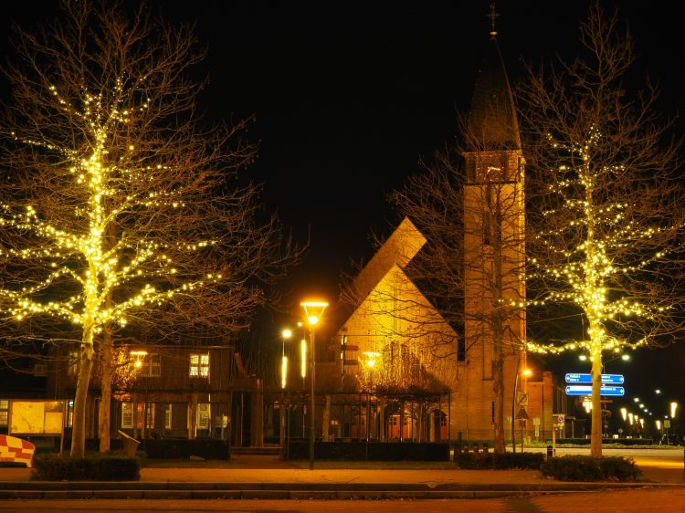 Centrum Boekel in kerstsfeer