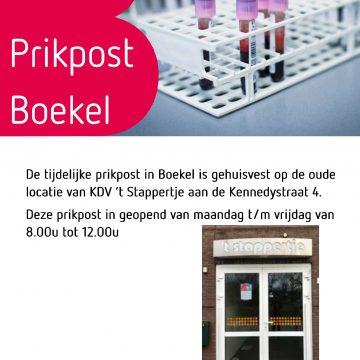 Tijdelijke prikpost Boekel