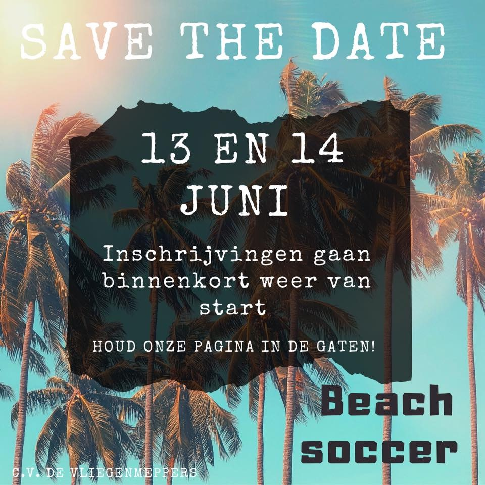 Inschrijvingen Beach Soccer uitgesteld