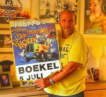 Originele poster van afgeblazen Boekels optreden Normaal (1986)