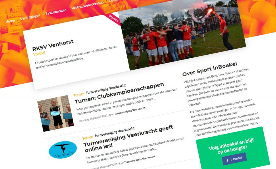 Nieuw: Sport inBoekel